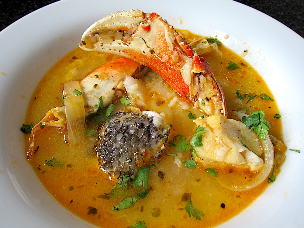 Parihuela peruvian seafood soup pisco trail for Fish soup recipes