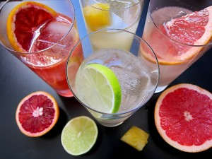 Chilcano — Pisco and ginger ale variations with lime, blood orange, grapefruit, and pineapple