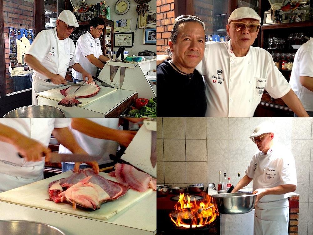 Javier Wong, cooking at Chez Wong