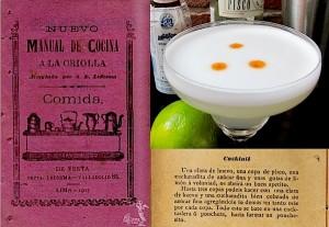 Pisco Sour cocktail recipe in 1903 Peruvian cookbook