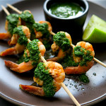 Shrimp Anticuchos with Chimichurri