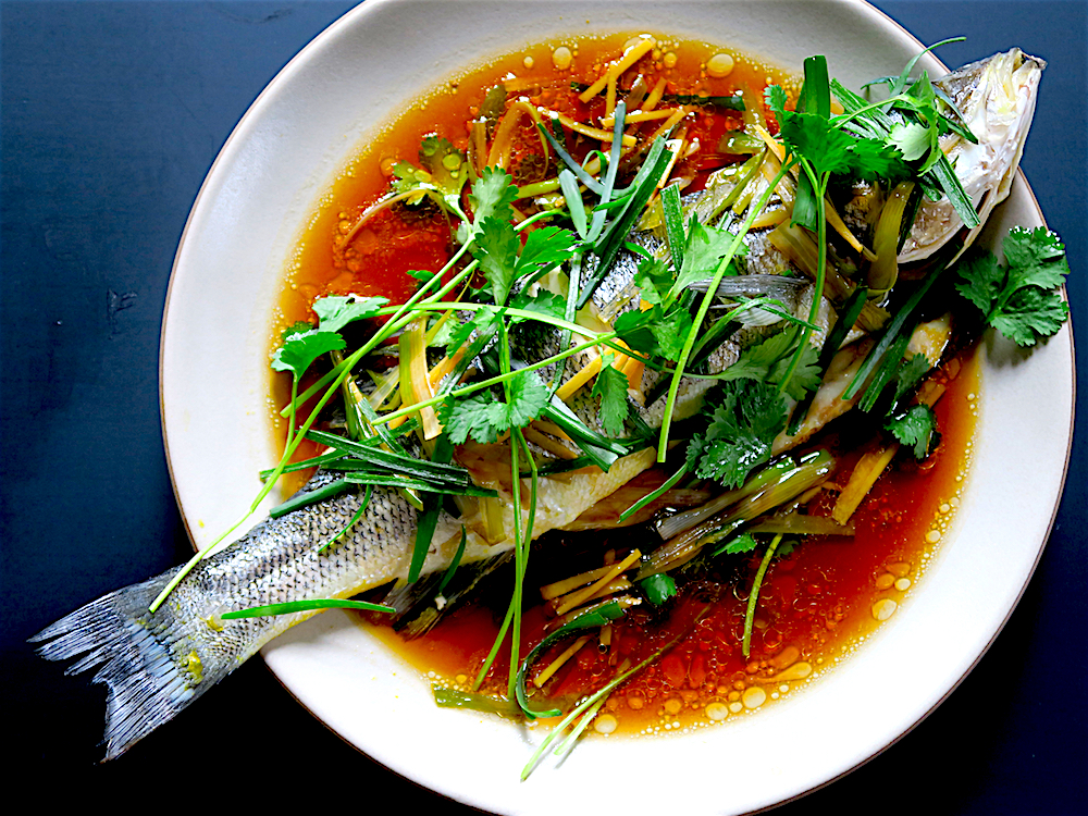 Sudado de pescado chifa chinese peruvian steamed fish for Chinese steamed fish