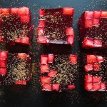 Chicha Morada en Gelatina (Peruvian Purple Corn Jello Shots)