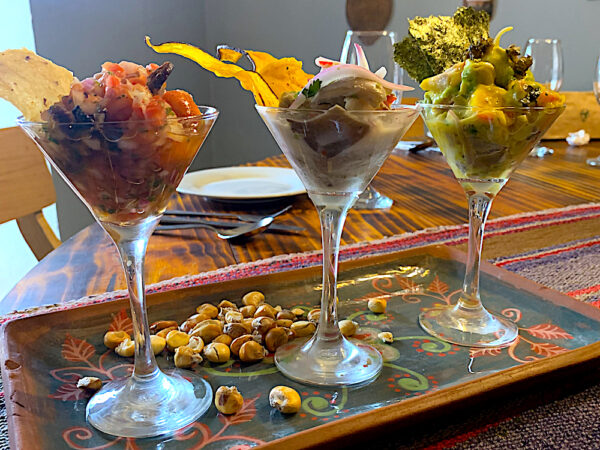 Vegan Ceviche at Green Point in Cusco